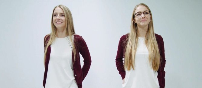 Twins Test Social Stigma Attached To Glasses