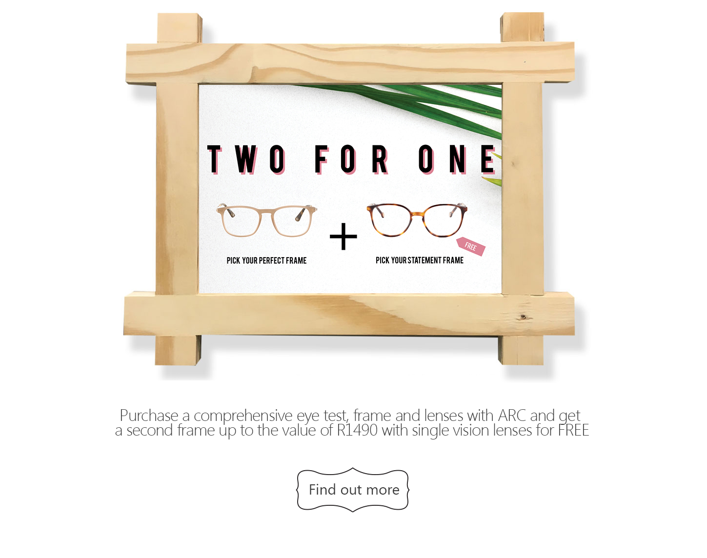 SUMMER OFFER: Two For One Spectacles