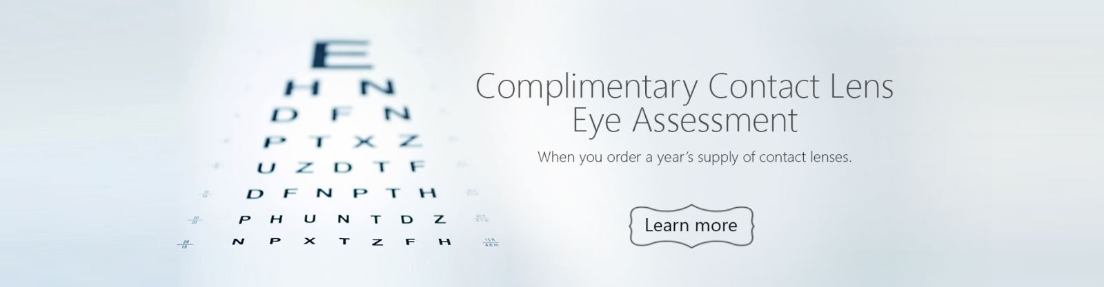 Complimentary Contact Lens Assessment
